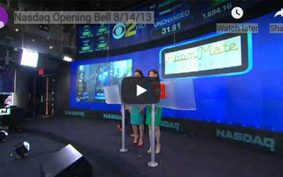 NASDAQ Opening Bell Ceremony, August 2013